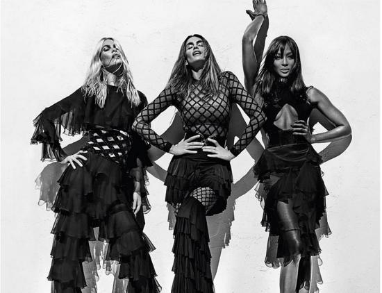 Наоми, Синди и Клаудия появились в новой рекламе Balmain