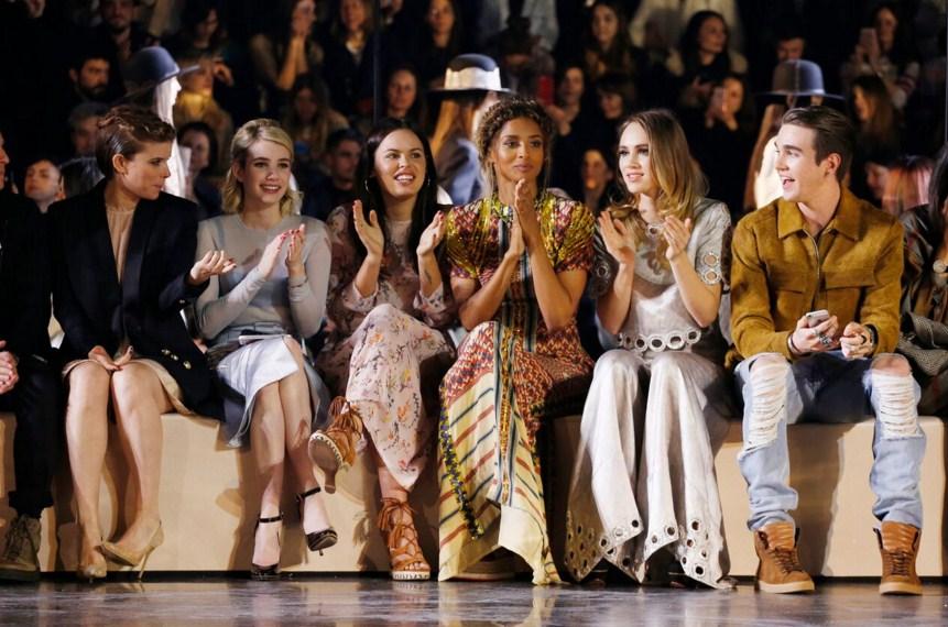 Оливия Палермо, Эмма Робертс и Сиара на показе H&M Studio