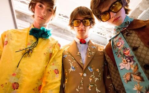 Мужская коллекция Gucci весна-лето 2017: показ и гости