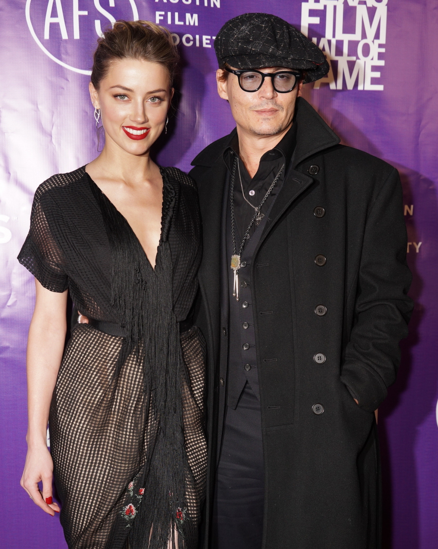 2014 Texas Film Hall of Fame Awards held at Austin Studios - Arrivals Featuring: Amber Heard,Johnny Depp Where: Austin, Texas, United States When: 06 Mar 2014 Credit: Arnold Wells
