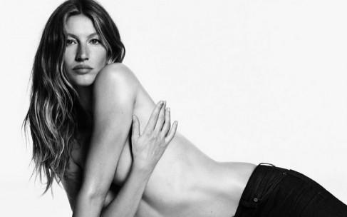 Обнаженная Жизель Бюндхен для Givenchy Jeans