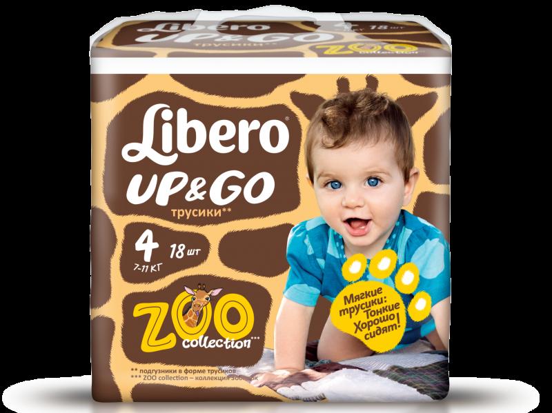 Libero Up&Go Size4 18pcs RU