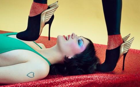 Глэм-рок снова в моде: осенняя коллекция Christian Louboutin