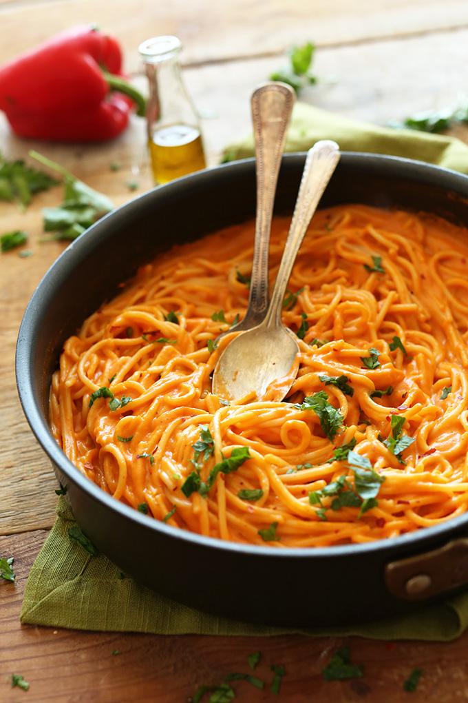 pasta vegan recept