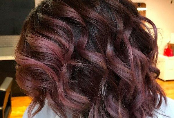 Шоколадно-лиловый — новый тренд в окрашивании