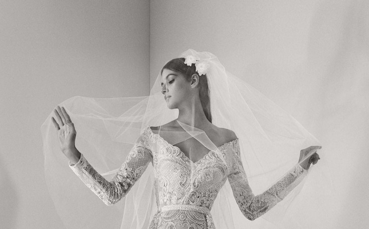 Валерия Кауфман в лукбуке свадебных нарядов Elie Saab Fall 2017 Bridal Collection