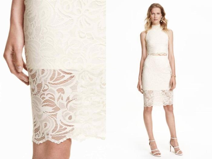 Весенний тренд: модные юбки с кружевом от H&M