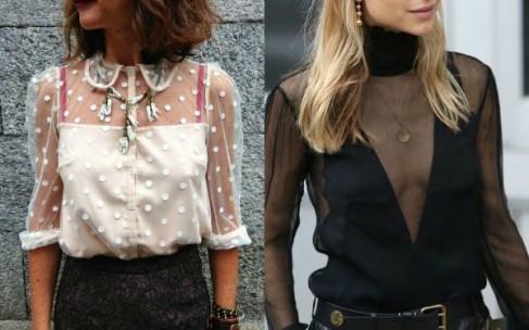 Женственные прозрачные блузки