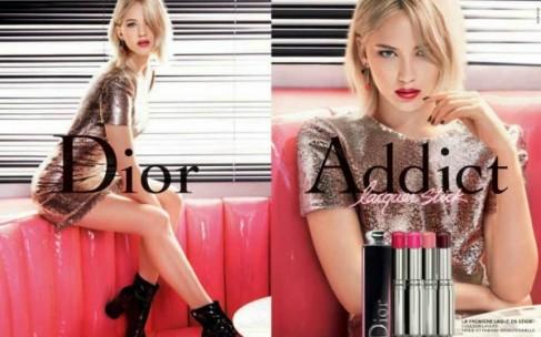 Дженнифер Лоуренс и Dior Addict Lip Lacquer