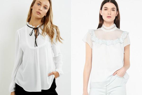 Весенний тренд — блузка с высоким воротником