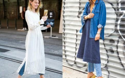 Платье и джинсы