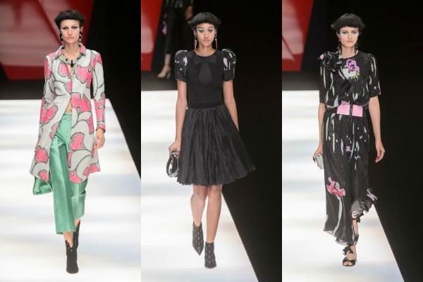 0dcd548330524b8 ... одежда, покрытая черной сеткой и крупными маками — весна-лето 2018, по  версии Армани, — самая счастливая и оптимистичная коллекция на Неделе моды.