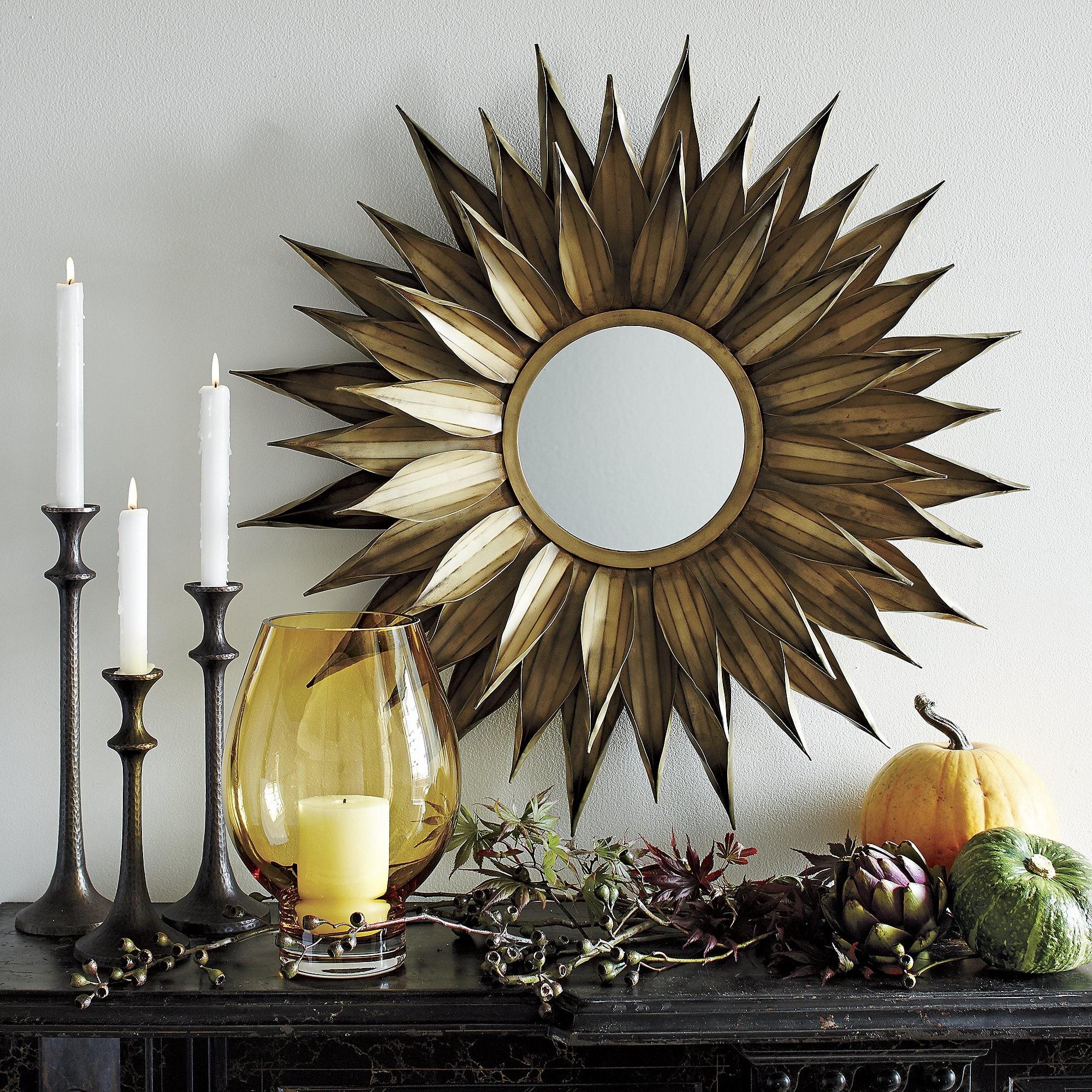 sunflower-round-wall-mirror