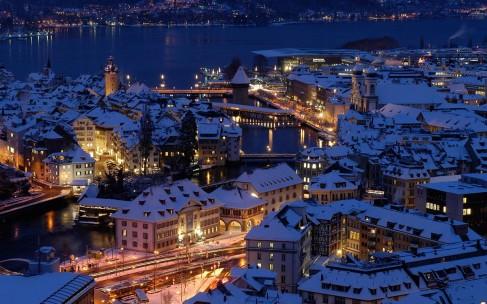 Новый год с видом на Женевское озеро