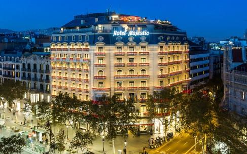 Рождественское освещение в Барселоне