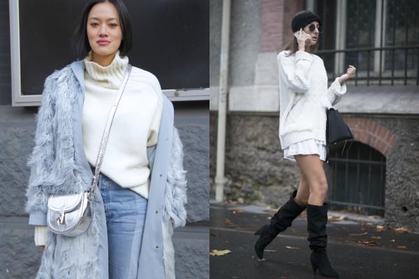 Белые свитера для теплой зимы