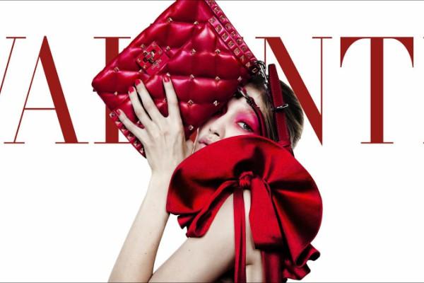 Джиджи Хадид в кампании Valentino