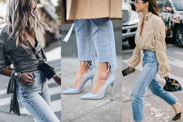 Как носить светлые джинсы весной?