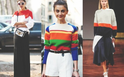 Как носить яркие свитера?