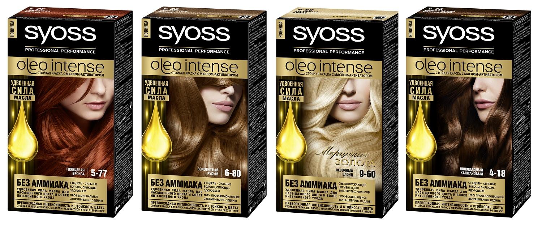 Краска для волос сьес олео интенс палитра цветов фото на волосах
