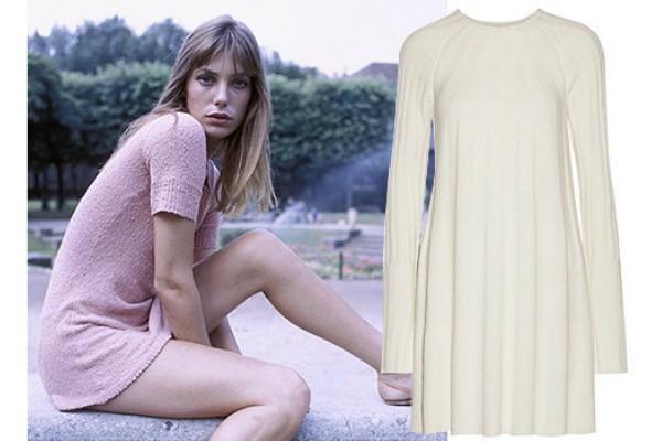 Короткие платья в стиле Джейн Биркин