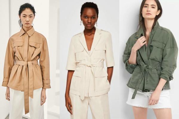 Весенний тренд — куртки с поясом
