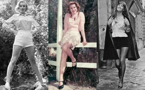 Как Мерлин Монро: короткие шорты с высокой талией