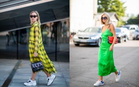 Streetstyle — платья и кроссовки