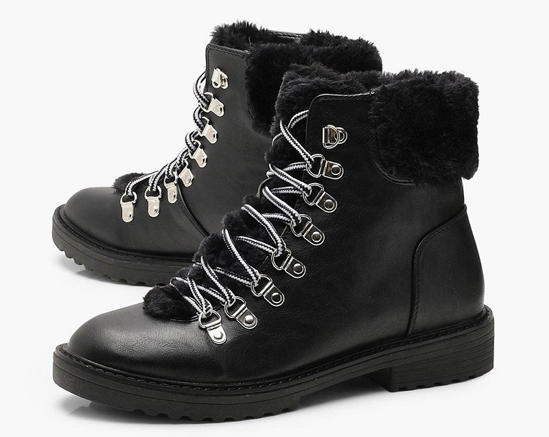 Faux Fur Lined Hiker Boots