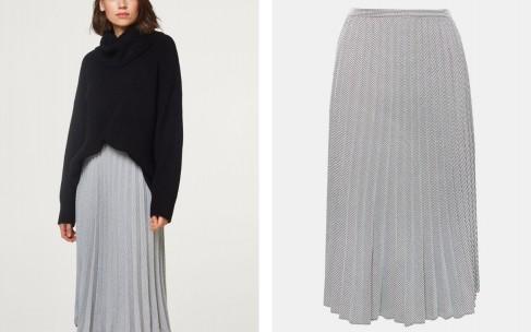 Стильные сочетания с юбкой в складку