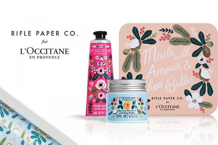 Любительницам свечей и нежного декора: L'Occitane и Rifle Paper Co