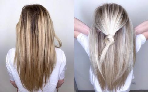 Модное окрашивание на темные волосы