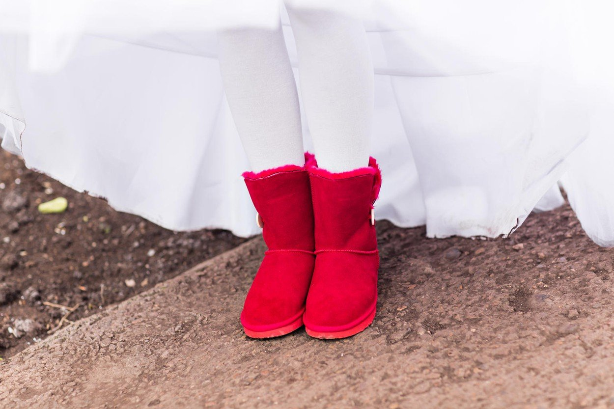 red uggs boots for young stylish bride, Image: 313686216, License: Royalty-free, Restrictions: , Model Release: yes, Credit line: Profimedia, Alamy