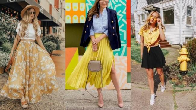 Яркий жёлтый: образы в трендовом цвете