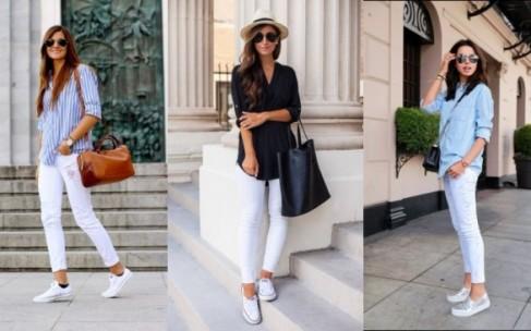 Белые джинсы — символ лета