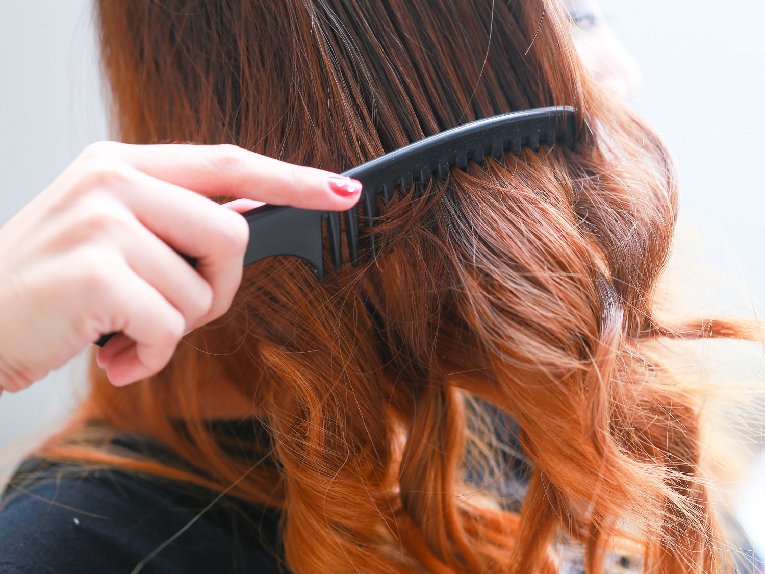 Make-Hair-Straight-with-a-Curling-Iron-Step-2