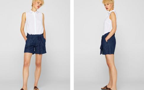 Льняные шорты — альтернатива джинсам
