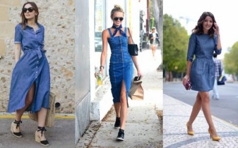 Как носить джинсовое платье: стильные летние образы