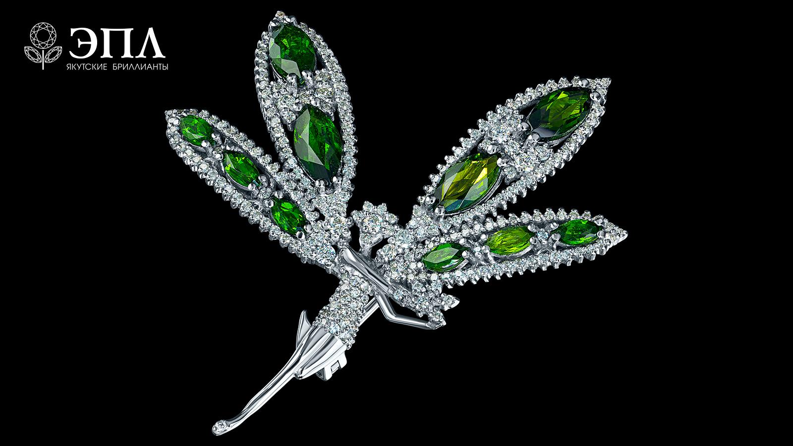 «Якутский изумруд» невероятной красоты — Хромдиопсид