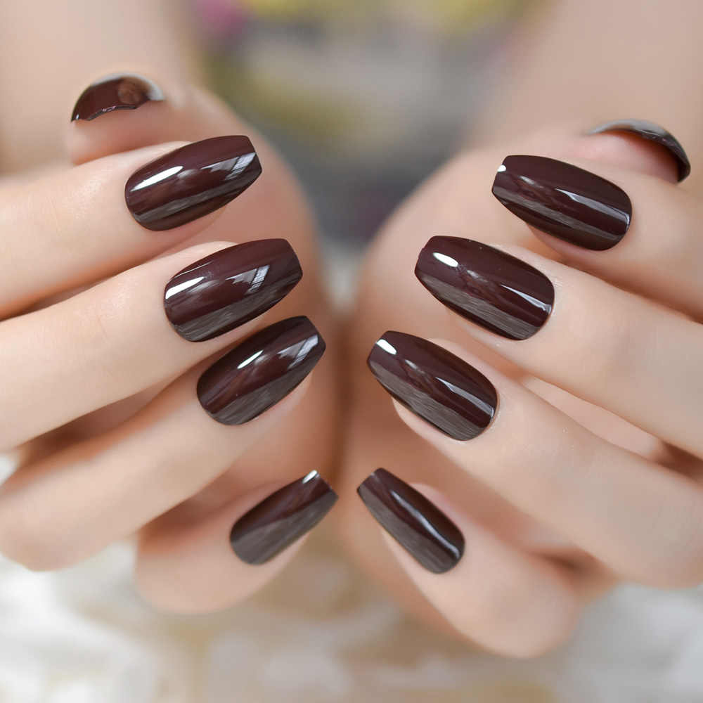 24pcs-Brown-Shiny-Surface-Medium-Fake-Nail-Chocolate-Simple-Pure-Color-Coffin-Artificial-Nails-Full-Cover.jpg_q50