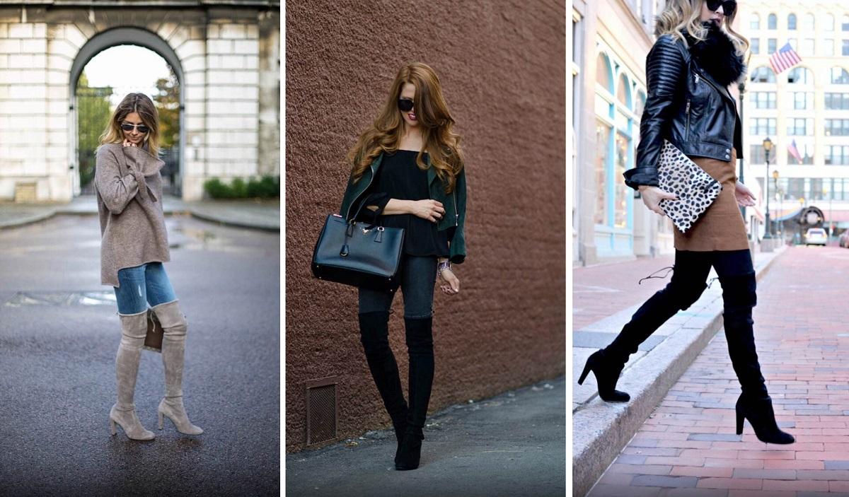 С чем носить ботфорты: стильные образы