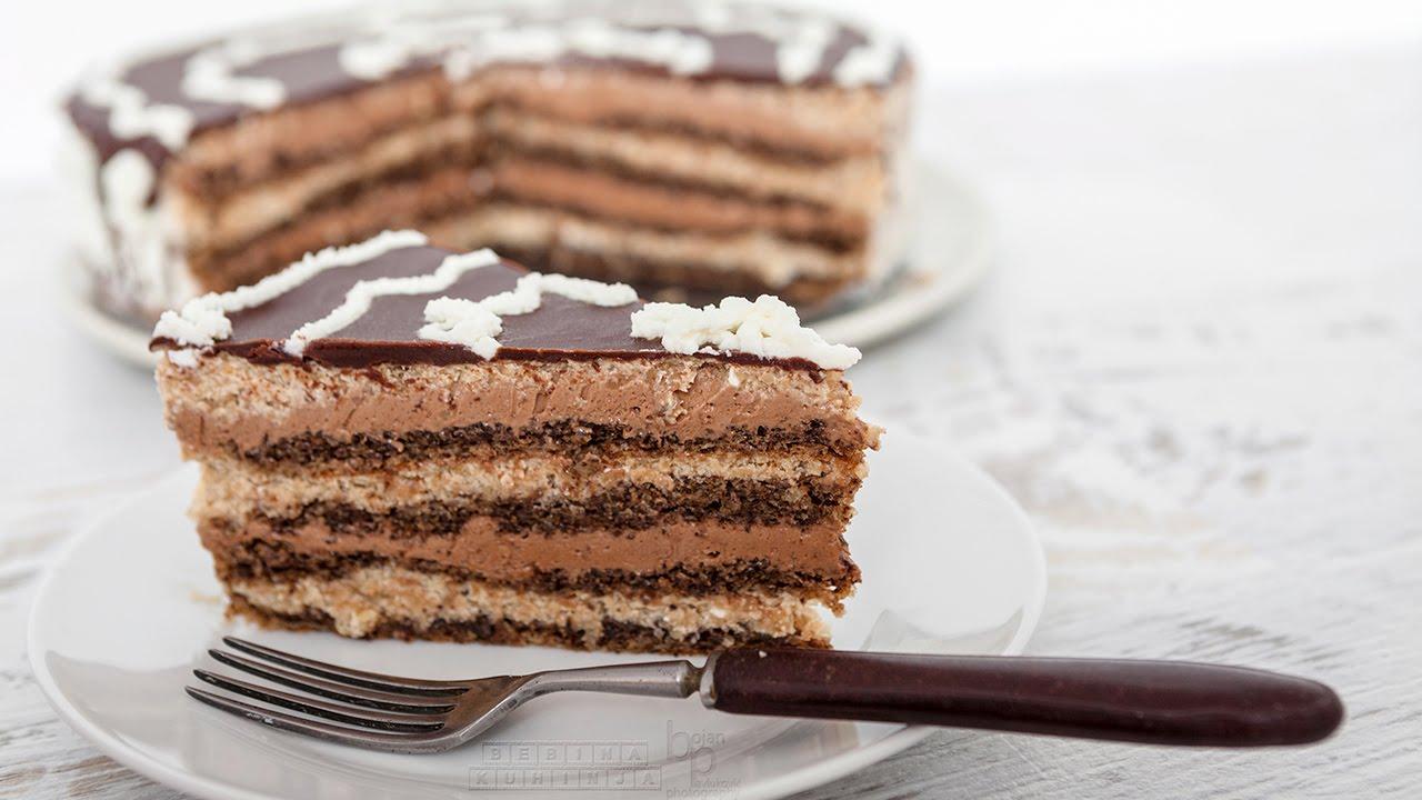 Слоеный торт без выпечки
