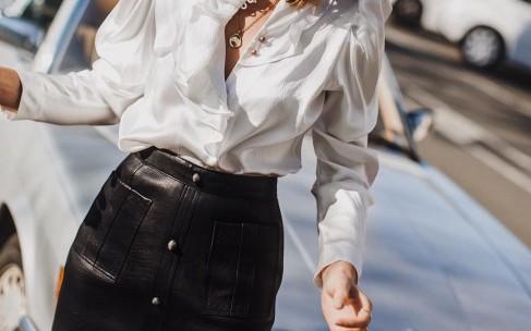 Кожаные юбки: актуальные модели