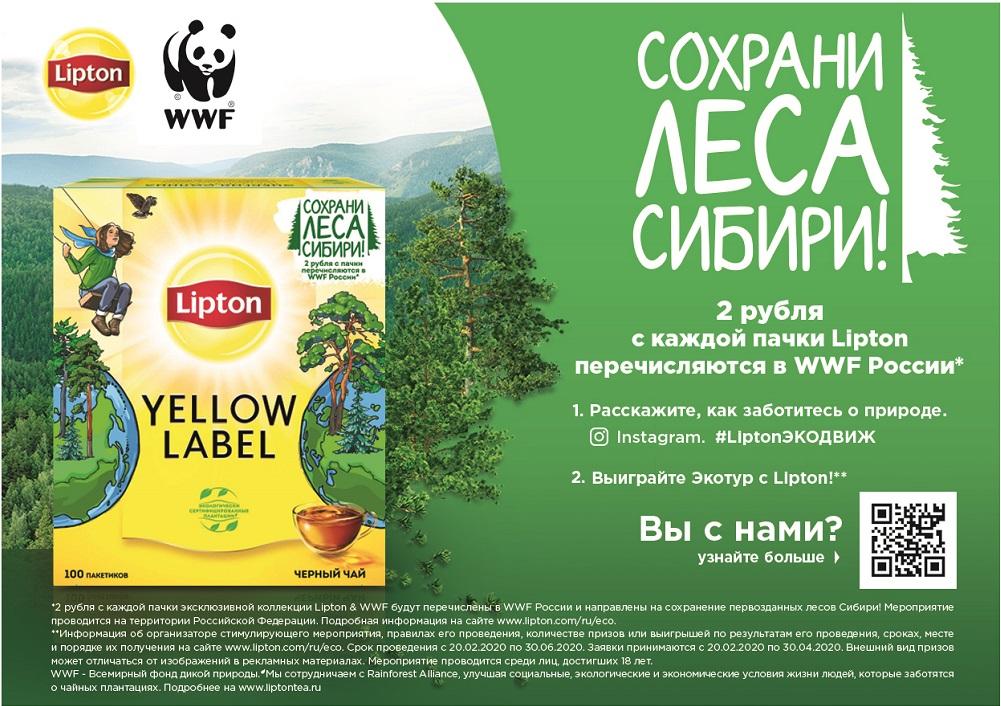 Lipton Cохрани Леса Сибири