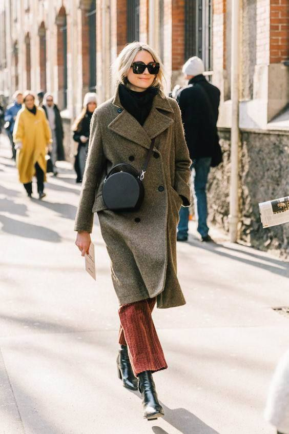 Варианты стильных пальто на весну