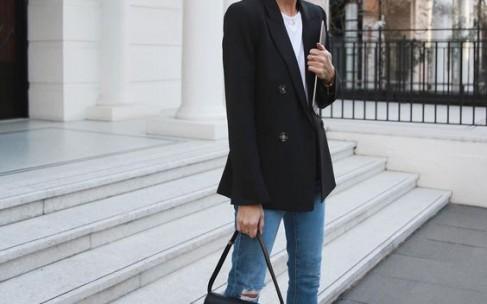 C чем носить черный пиджак?