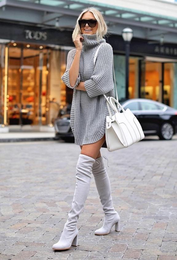 Уютное платье-свитер, в котором вы будете разной каждый день