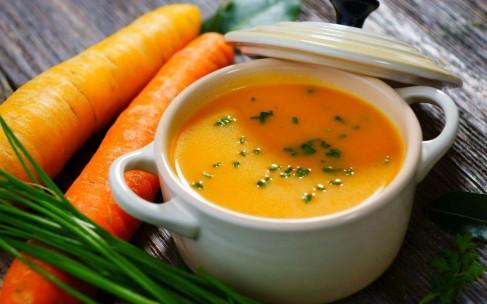Фото рецепт: теплый морковный суп