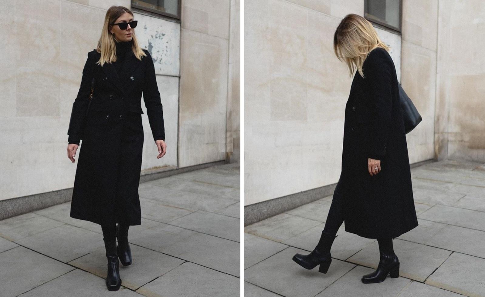 Черное пальто: с чем носить?