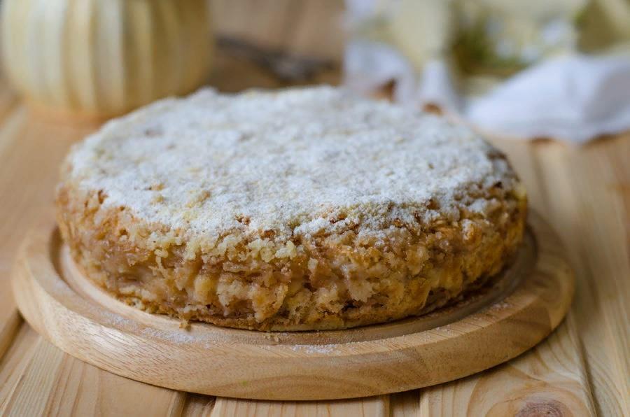 Субботнее утро: насыпной яблочный пирог за 10 минут
